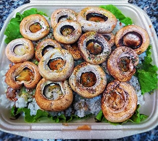 Grilled mushrooms with rice Bambola pizzeria delivery