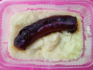 Sausage with mashed potato delivery