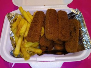 Fish sticks in a portion delivery