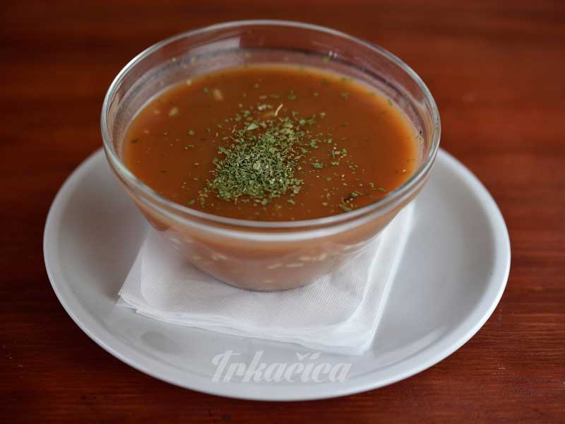 Tomato soup delivery