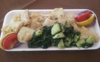 Catfish fillet  Pangasius with potato and mangel delivery