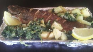 Trout with potatoes and mangel delivery