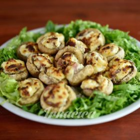 Meal menu stuffed mushrooms