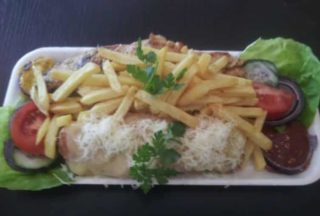 Stuffed chicken fillet portion delivery