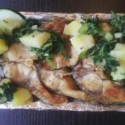 Carp chop with potato and mangel