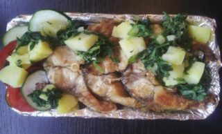 Carp chop with potato and mangel delivery