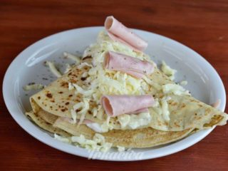 Crepe ham  cheese  sour cream delivery