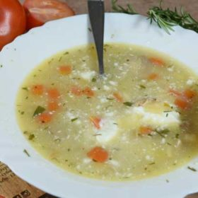 Homemade chicken broth with vegetables delivery