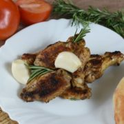 Chicken wings with rosemary and garlic