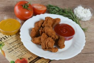 Fried pieces of chicken breasts Krilca delivery