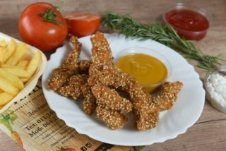 Fried sticks with sesame dostava