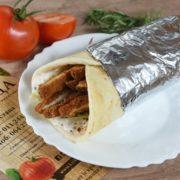 Sandwich with grilled chicken  tartar sauce and iceberg salad