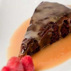 Date cake in butter saucee delivery