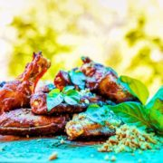 Wings garlic  cashew  basil