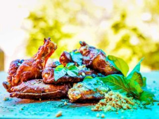 Wings garlic  cashew  basil delivery