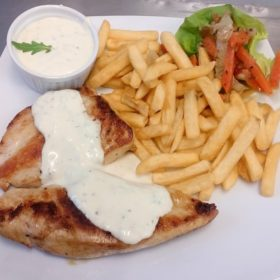 Chicken fillet in gorgonzola sauce