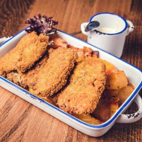 Breaded veal breast