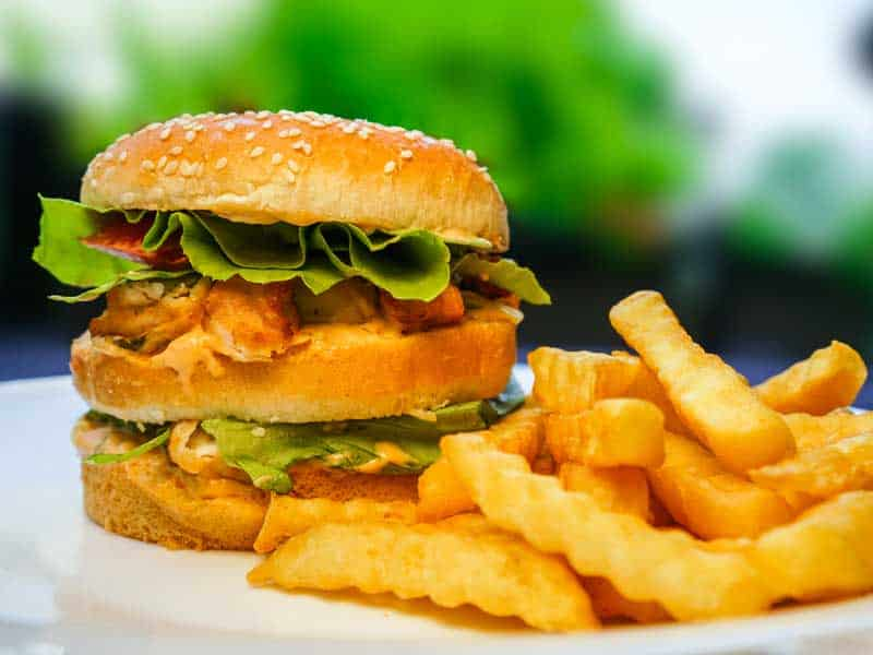 Calimero Pilei Burger Calimero Chicken Wings Food Delivery Alideda