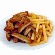 Emperors chicken with French fries