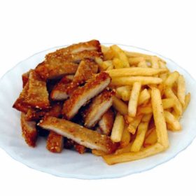 Emperor's chicken with French fries