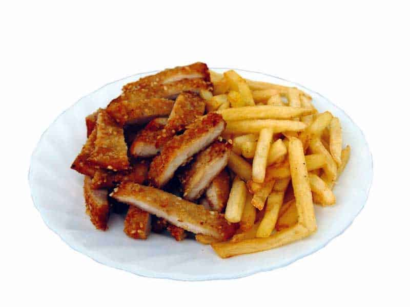 Emperor's chicken with French fries delivery