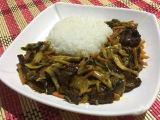 Veal in oyster sauce dostava