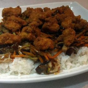 Crispy chicken in oyster sauce