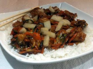 Pork with pineapple in sweet n sour sauce delivery