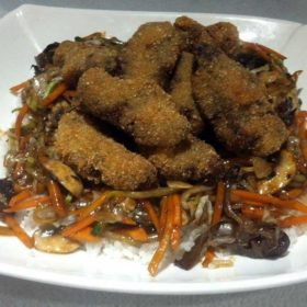 Fried pork leaves in soy sauce delivery