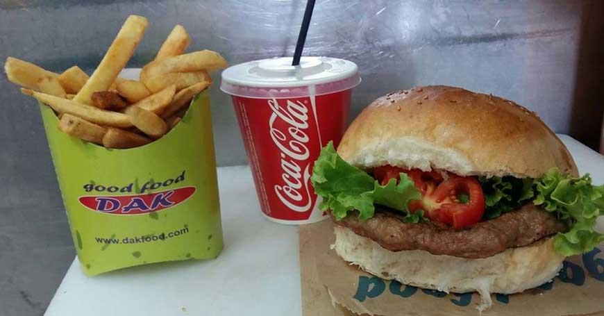 Pljeskavitsa + 150 grams of French fries + Coca Cola 0.25 l delivery