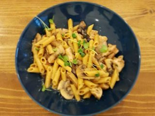 Pasta with mushrooms delivery