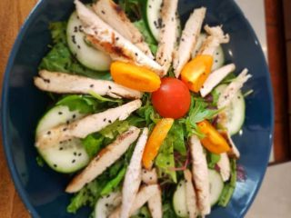Salad with chicken delivery