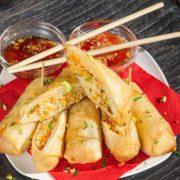 Starter pack 1 - Spring rolls veggie 3pcs + 3 sauce