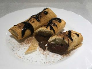 Rolls with chocolate delivery