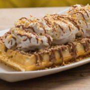 Almond waffle