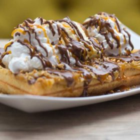 Snickers waffles delivery
