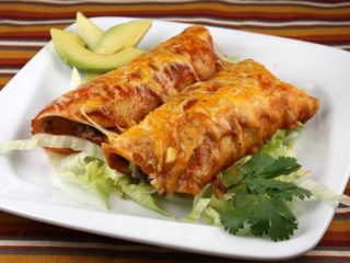 Enchilada with minced meat delivery