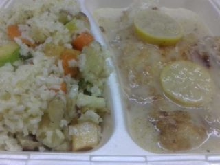 Catfish fillet in lemon sauce delivery