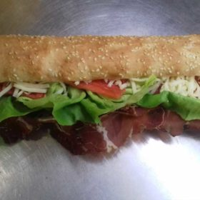 Sandwich with beef prosciutto delivery