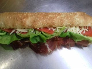 Sandwich with beef prosciutto Pantela delivery