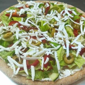 Greek pizza salad delivery