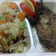Grilled catfish fillet