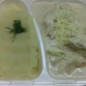 Chicken with four kinds of cheese - meal delivery