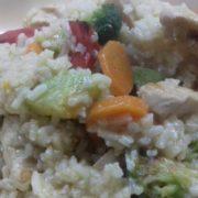 Rižoto sa piletinom i svežim povrćem