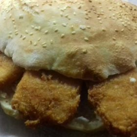 Sandwich with fried cheese delivery