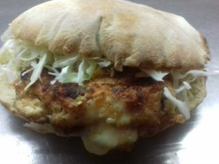 Stuffed chicken fillet in bun Pantela delivery