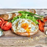 Sandwich with paprika and eggs