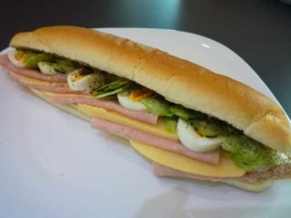 Sandwich with ham delivery