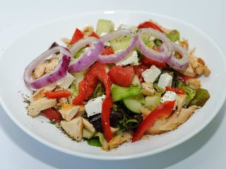 Greek salad with gyros chicken delivery