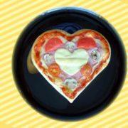 Kids pizza heart